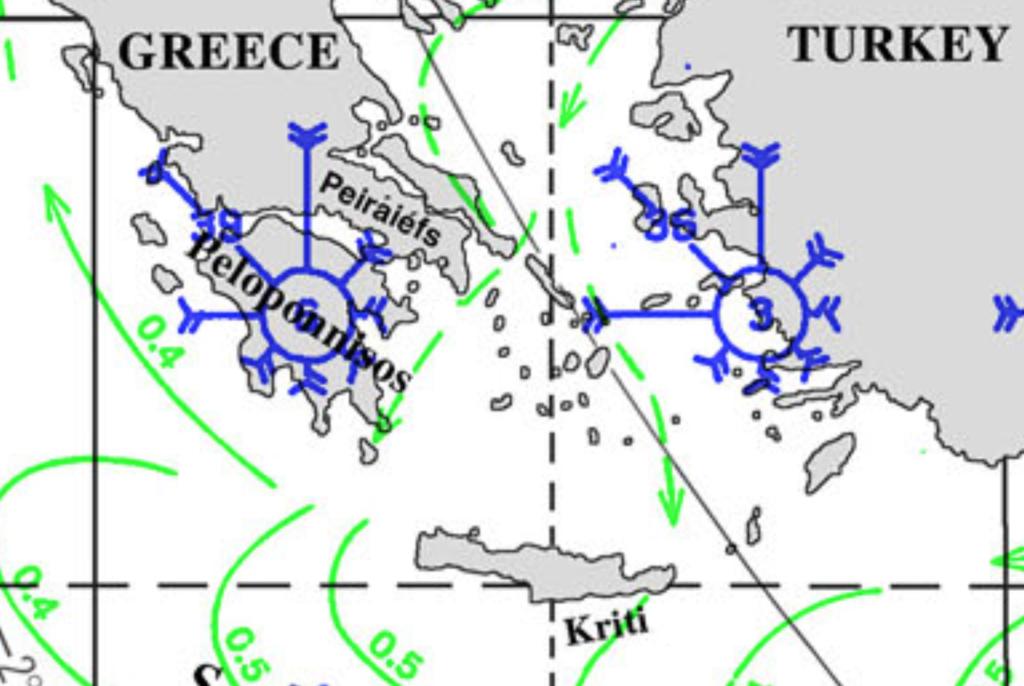 Pilot Chart for the Aegean Sea